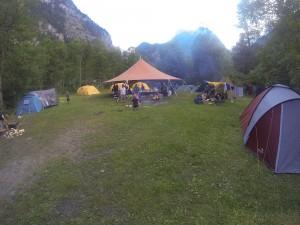 Foto over lejeren i Kandersteg